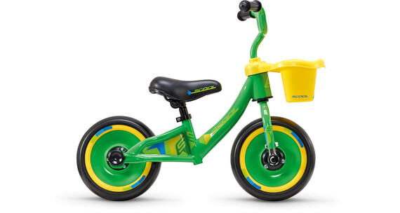"""s'cool pedeX 3in1 - Draisienne Enfant - 10"""" jaune/vert"""
